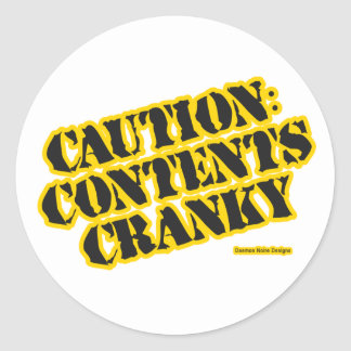 Caution Contents Cranky Stickers