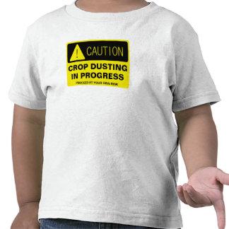Caution! Crop Dusting in progress - funny running T Shirt