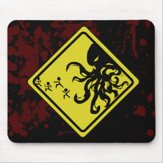 Caution Cthulhu Mouse Pad