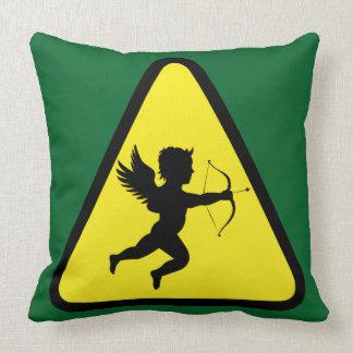 Caution: Cupid Throw Pillow