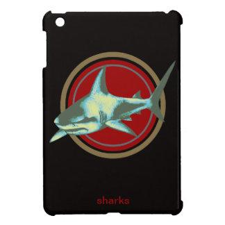 caution, danger sharks case for the iPad mini