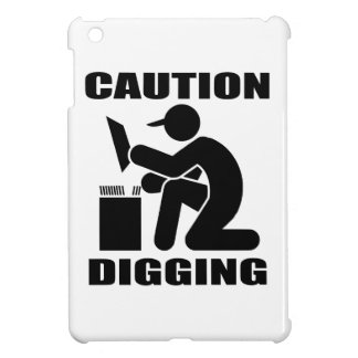 Caution Digging iPad Mini Covers