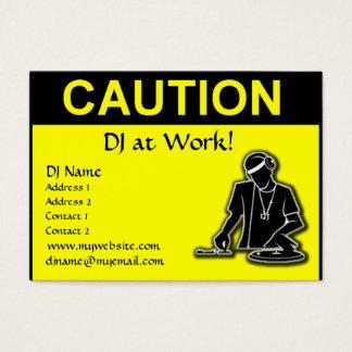 Caution - DJ at Work Business Card