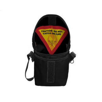 Caution: Do not catch on fire Courier Bag