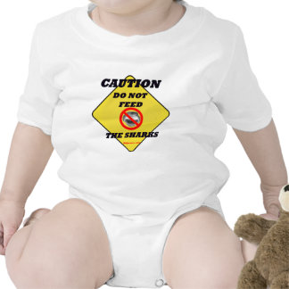 Caution Do Not Feed The Sharks Baby Bodysuit