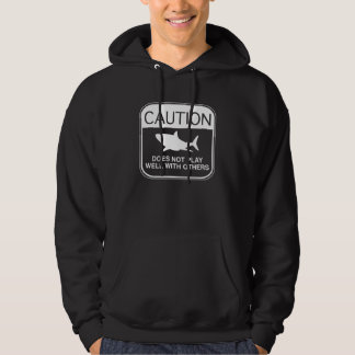 Caution – Does Not Play Well With Others Hooded Pullover