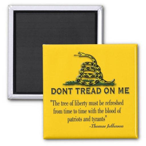 "CAUTION ""Don't Tread On Me"" FLAG Fridge Magnet"