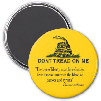 "CAUTION ""Don't Tread On Me"" FLAG Magnet"