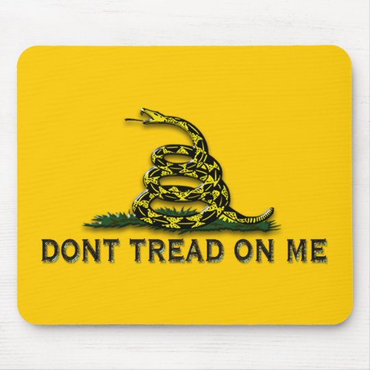 """CAUTION """"Don't Tread On Me"""" FLAG Mouse Pad"""