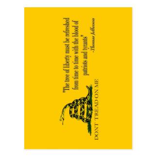"CAUTION ""Don't Tread On Me"" FLAG Postcard"