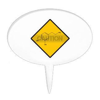 Caution: Dopamine Cake Topper