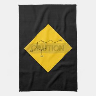 Caution: Dopamine Kitchen Towel