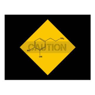 Caution: Dopamine Postcard