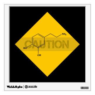 Caution: Dopamine Wall Sticker