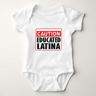 Caution Educated Latina Tee Shirts