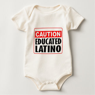 Caution Educated Latino Baby Creeper