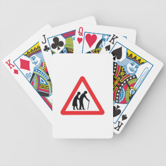 CAUTION Elderly People - UK Traffic Sign Bicycle Playing Cards