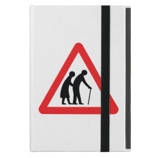 CAUTION Elderly People - UK Traffic Sign Case For iPad Mini