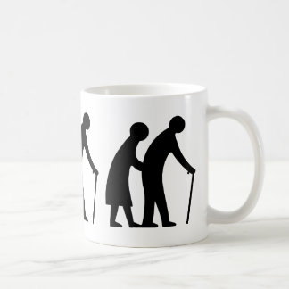CAUTION Elderly People - UK Traffic Sign Coffee Mug