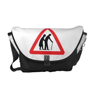 CAUTION Elderly People - UK Traffic Sign Courier Bag