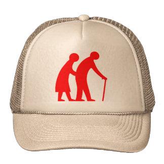 CAUTION Elderly People - UK Traffic Sign Hats
