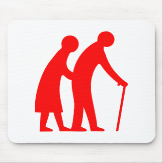 CAUTION Elderly People - UK Traffic Sign Mouse Pad