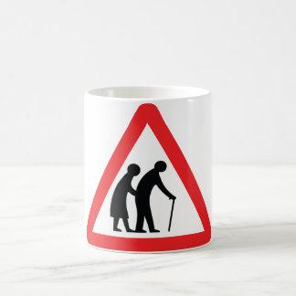 CAUTION Elderly People - UK Traffic Sign Mug
