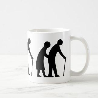 CAUTION Elderly People - UK Traffic Sign Coffee Mugs