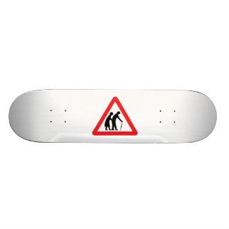 CAUTION Elderly People - UK Traffic Sign Skateboard Deck