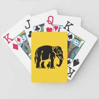 Caution Elephants Crossing ⚠ Thai Road Sign ⚠ Bicycle Playing Cards