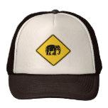 Caution Elephants Crossing ⚠ Thai Road Sign ⚠ Trucker Hats