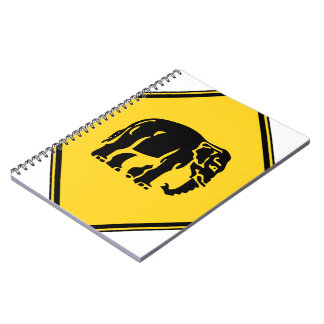 Caution Elephants Crossing ⚠ Thai Road Sign ⚠ Notebook