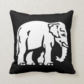 Caution Elephants Crossing ⚠ Thai Road Sign ⚠ Throw Pillow