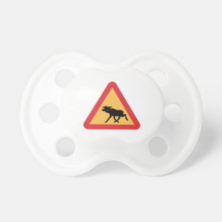 Caution Elks, Traffic Sign, Sweden Pacifier