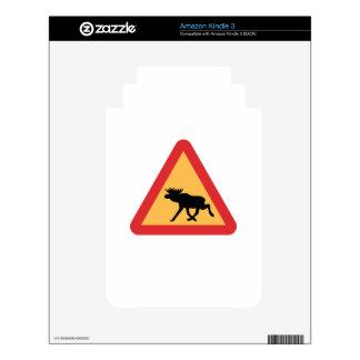 Caution Elks, Traffic Sign, Sweden Skins For Kindle