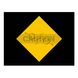 Caution: Estrogen Postcard