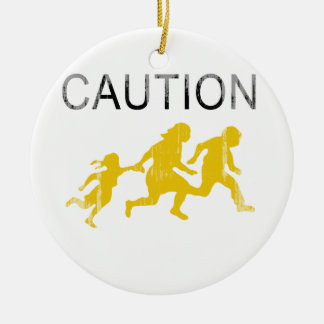 Caution Faded png Christmas Tree Ornaments