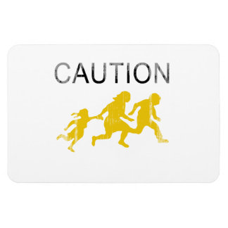 Caution Faded png Flexible Magnet