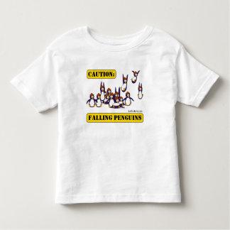 Caution: Falling Penguins Tee Shirt