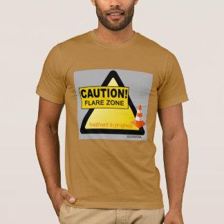 Caution flare unisex t-shirt