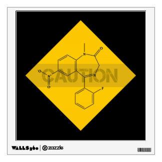 Caution: Flunitrazepam Wall Sticker