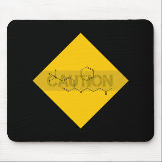 Caution: Fluoxetine Mouse Pad