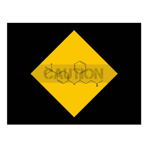 Caution: Fluoxetine Post Card