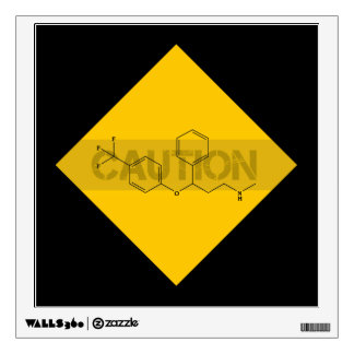Caution: Fluoxetine Wall Decal