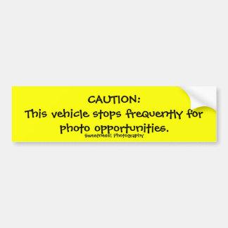 Caution Frequent Stops Bumper Sticker
