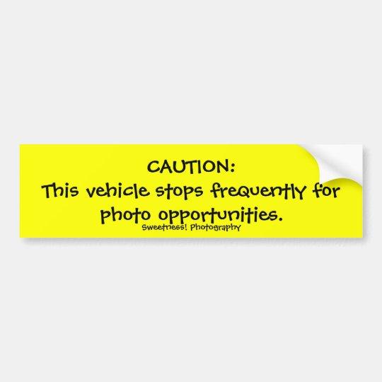 Caution, Frequent Stops Bumper Sticker