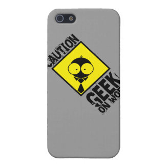 Caution:Geek_On_Work Cover For iPhone SE/5/5s
