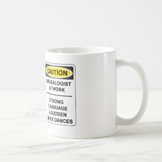 """Caution! Genealogist At Work"" sign Mug"