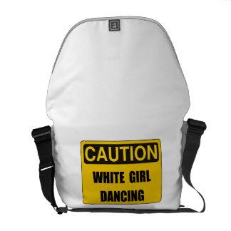 Caution Girl Dance Courier Bag