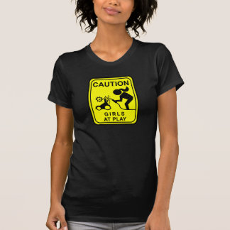 Caution Girls at play T-Shirt